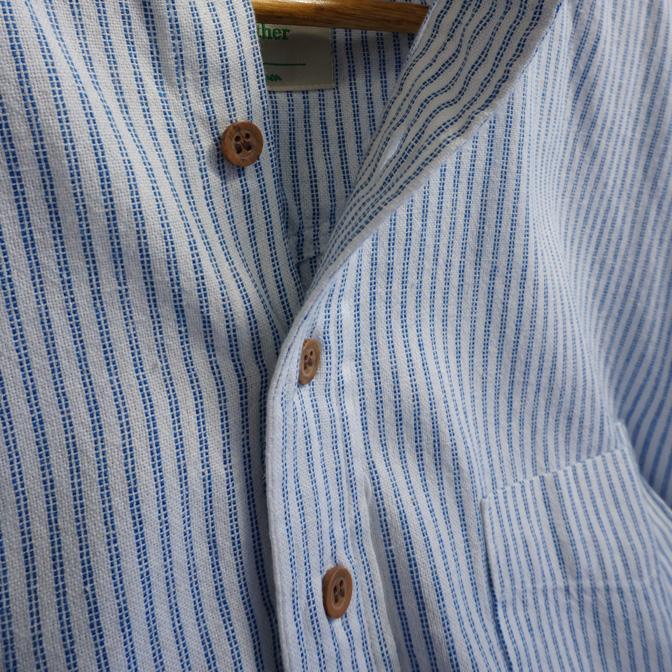 sommerliches Hemd mit 10 % Leinenanteil