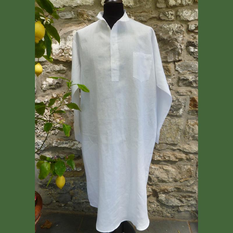 Herren-Nachthemd Leinen