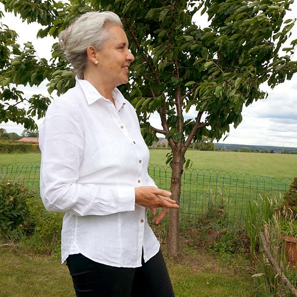 Damen Leinen Hemd weiß aus Irland