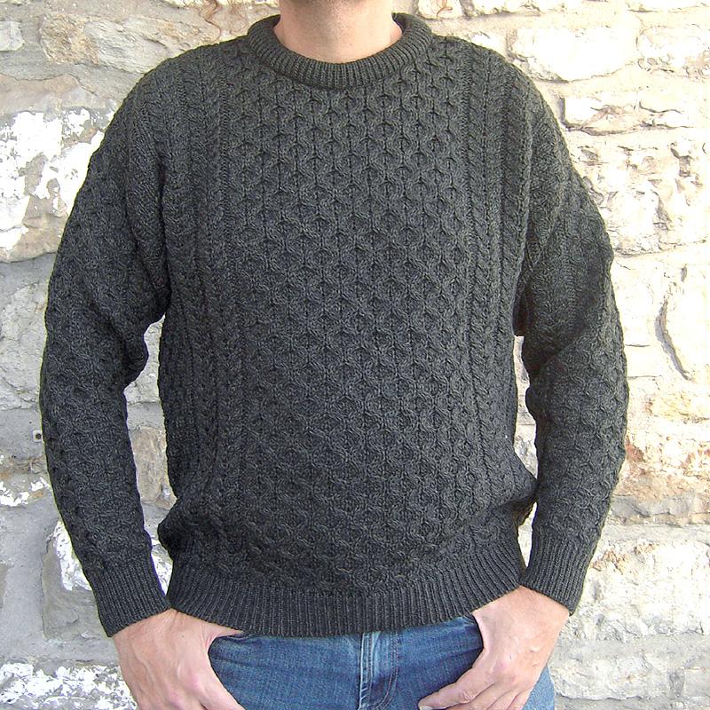 irischer Wollpullover aus Merinowolle