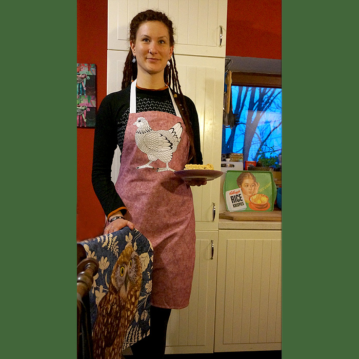 küchenschürze mit Henne aus England